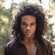 long curly hair men natural
