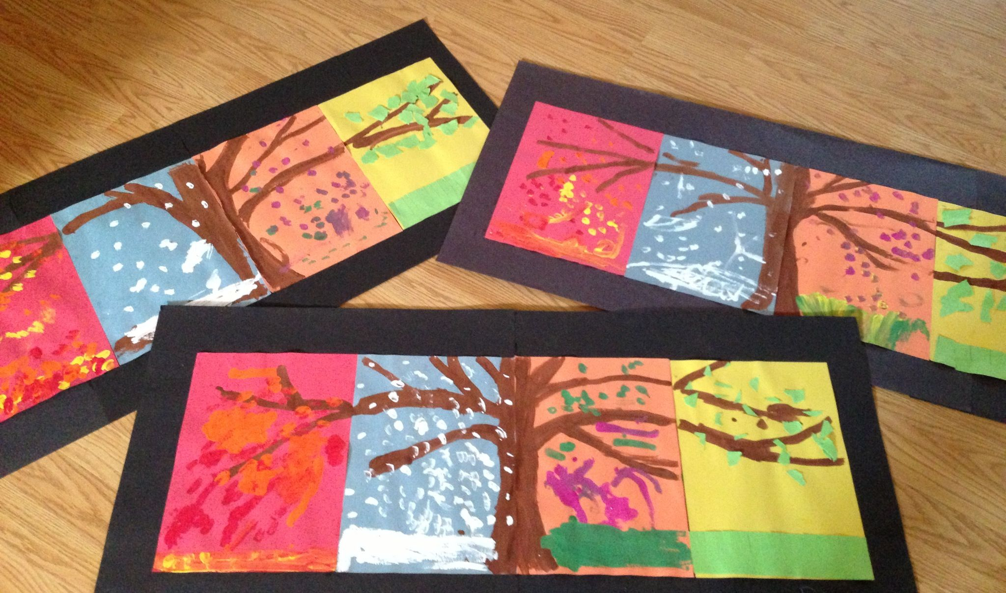 Four Season Tree For First And Second Grade To Do In Art