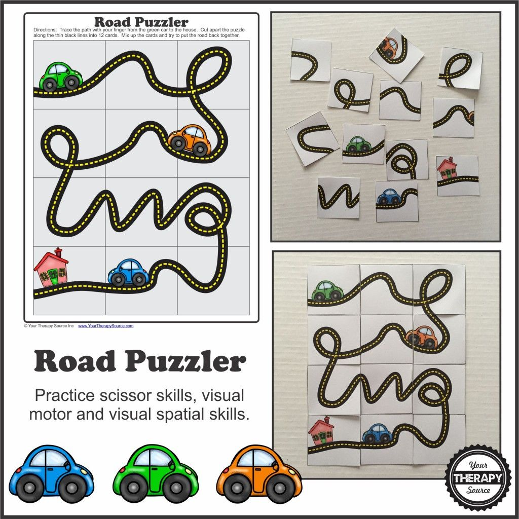 Road Puzzler Freebie Picture From Yourtherapysource Freeroadpuzzler