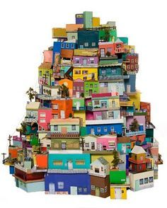 Shoe Box Shanty Town Sculpture Club Pinterest Box Craft And