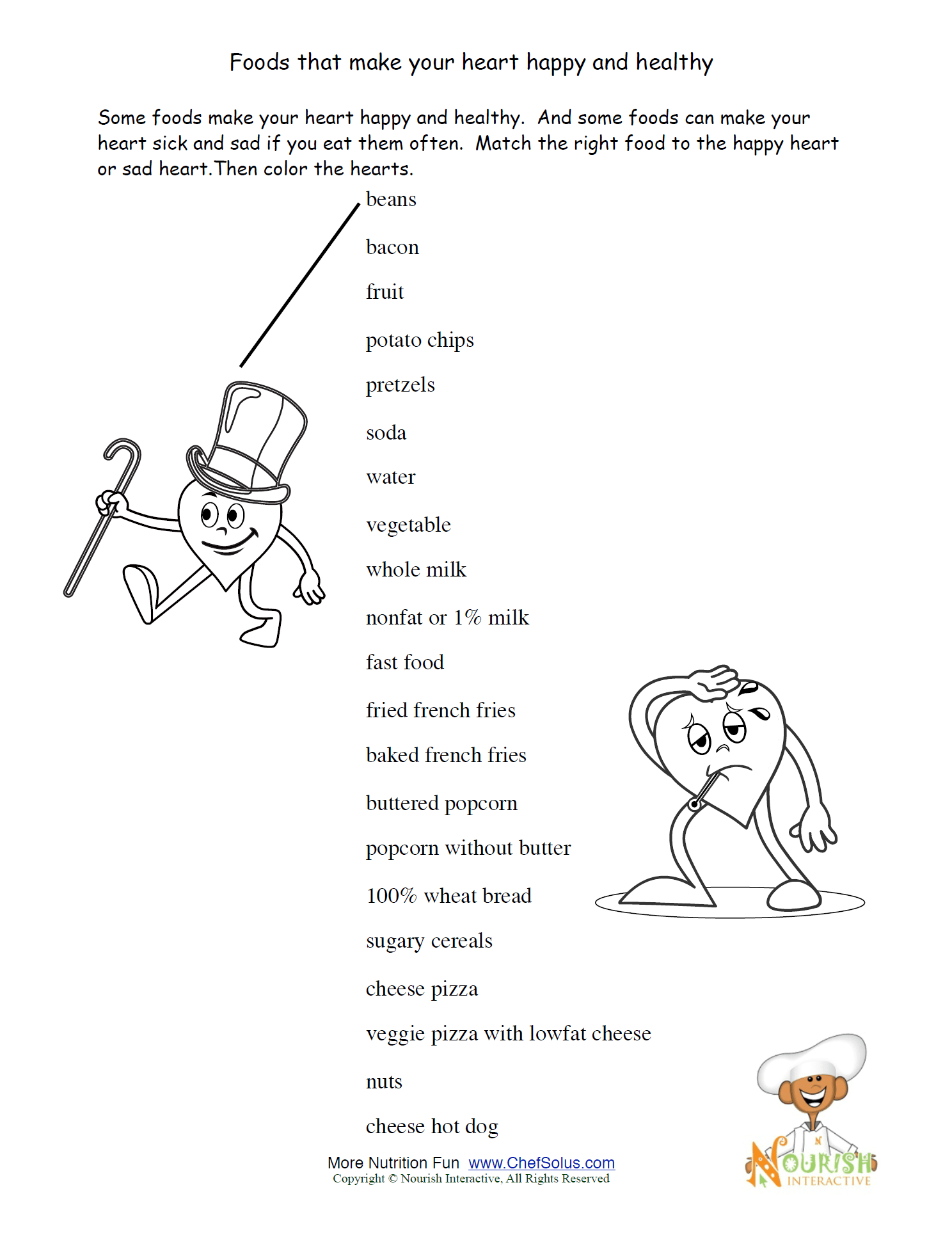 4th Grade Worksheet The Heart