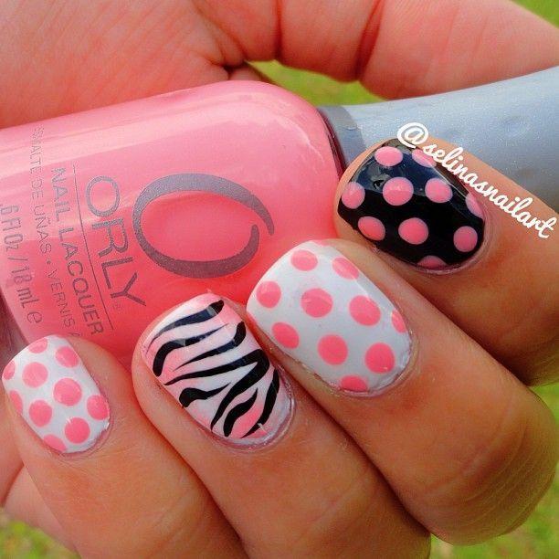 Polkadot Polka Dot Poka Dot Pokadot Pink White Polish Zebra Cute