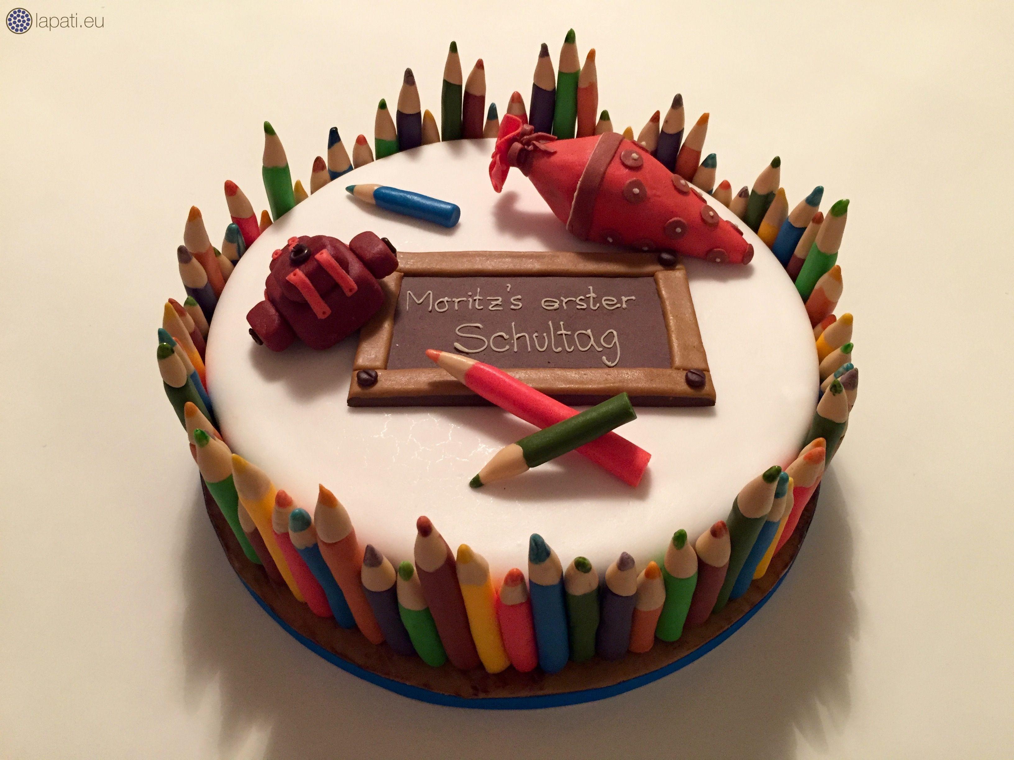 Torte zum ersten Schultag  Schulanfang in Bayern  Fondantart  Cakes als Kunst  Pinterest