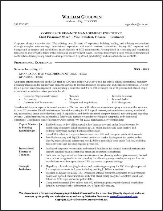Sample CFO #resume Page 1 Resume Examples Pinterest Resume