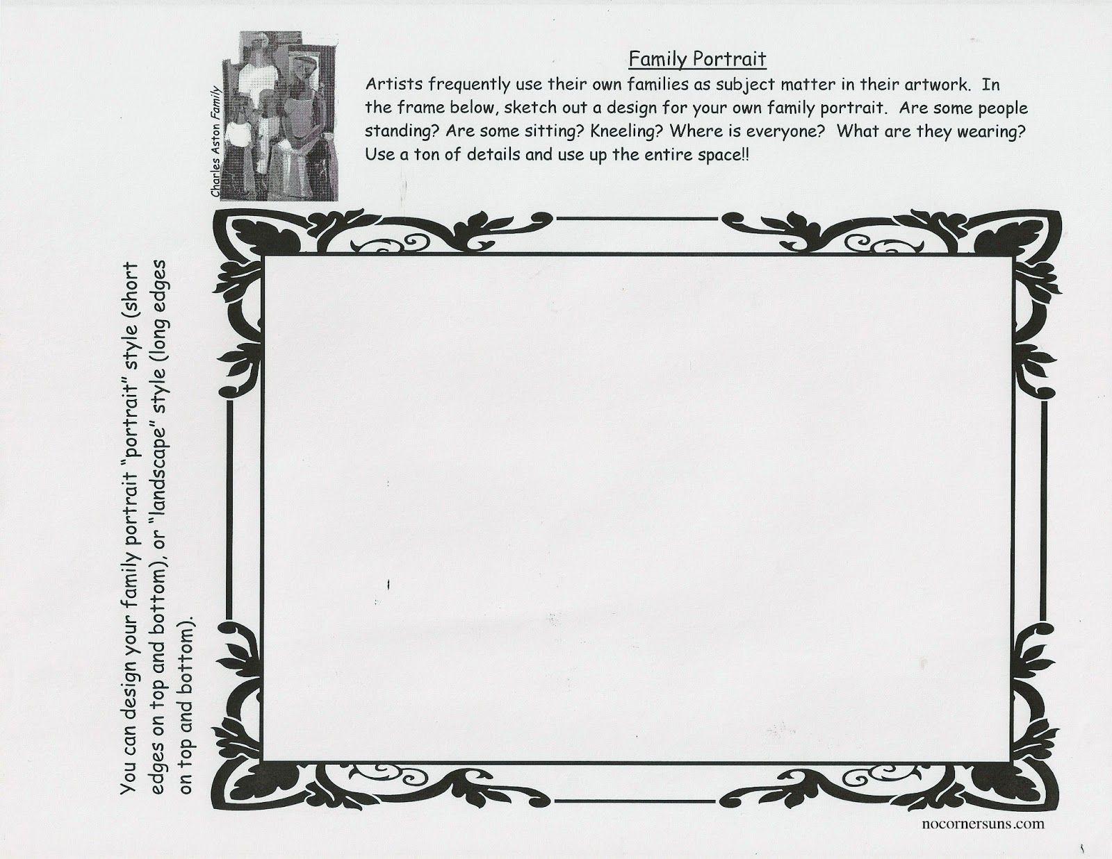 Family Portrait Worksheet