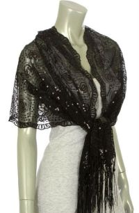 Fancy Shawls and Wraps | Black Shawl Wrap Sequin Sheer ...