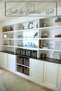Brick Fireplace Bookcases Plans
