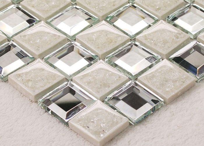Porcelain glass tile wall backsplash fireplace crystal art flower pattern design mosaic tiles also