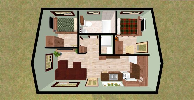 Alluring Small House Ideas Style Excellent Interior Design Mesmerizing Accessories Tone 2 Bedroom Bath Plans 4 Beautiful