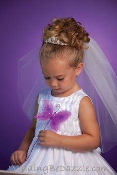 Flower Girls Hairstyles With Tiara Google Search Hair Styles
