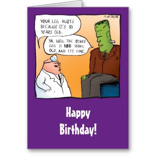 Funny Frankensteins Doctor Birthday Card Frankenstein
