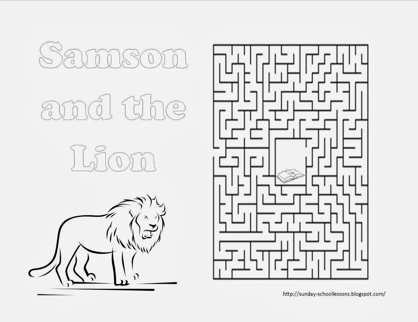 Samson And The Lion Maze