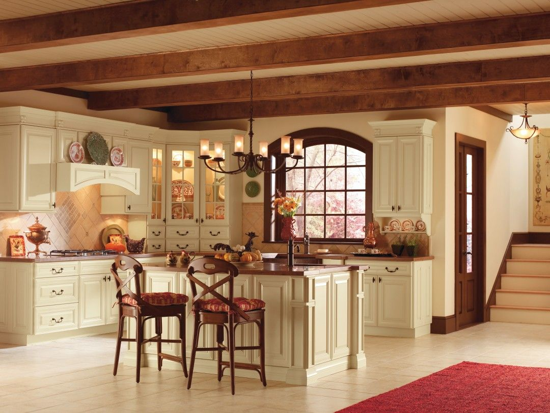 thomasville kitchen cabinets blanco faucet replacement parts camden maple cornsilk by cabinetry