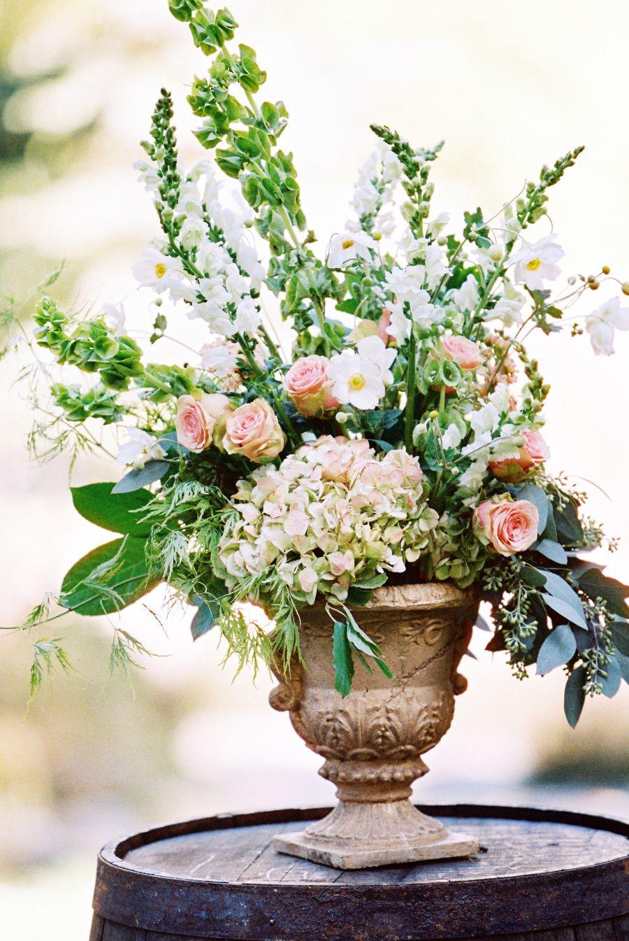 Romantic Blush Sundance Resort Wedding Floral Arrangement Floral And Romantic