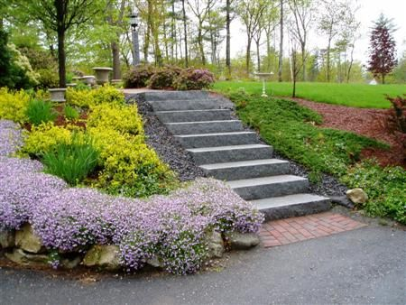 landscaping sloped driveway