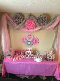 Pink and gray baby girl shower! | Baby Showers | Pinterest ...