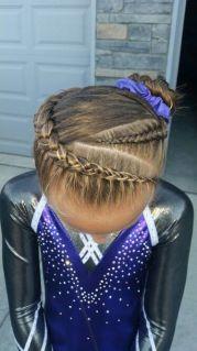 gymnastics hair. braids. pinteres