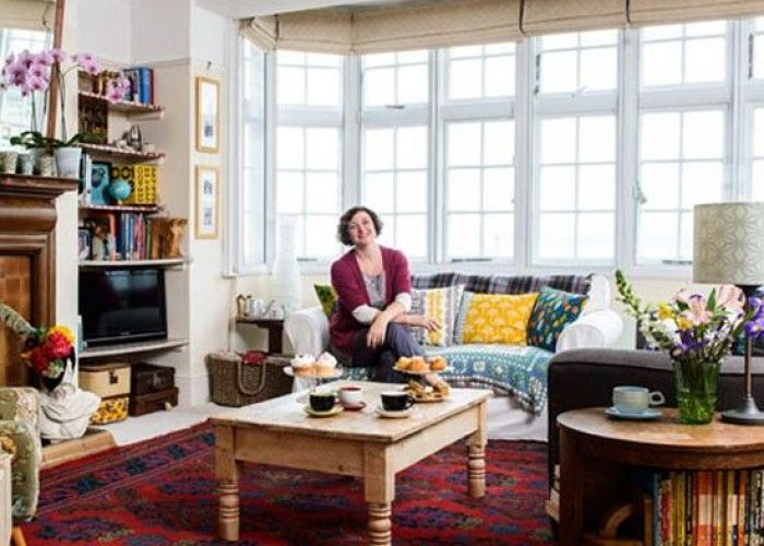 Living room photo gallery style at home housetohome also take  tour around joey   apartment that filled with vintage finds