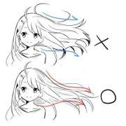 draw hair drawings