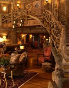 My boyfriend would love the trees in house fairytale cottage home decor  decorating rustic twining tree branches staircase also room designs living design before and rh pinterest