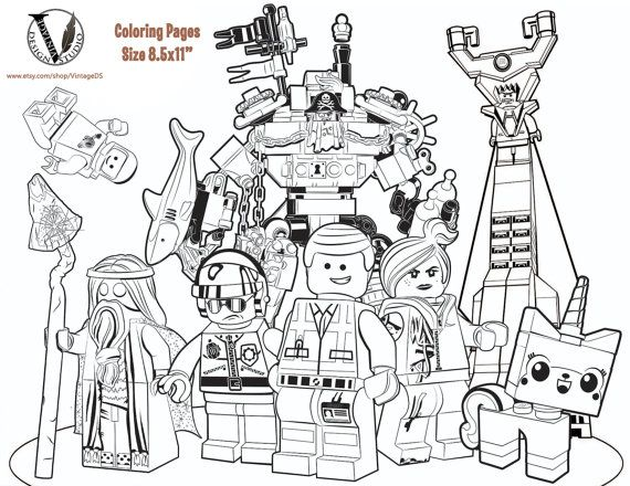the lego movie coloring pages  15 pages (game / games