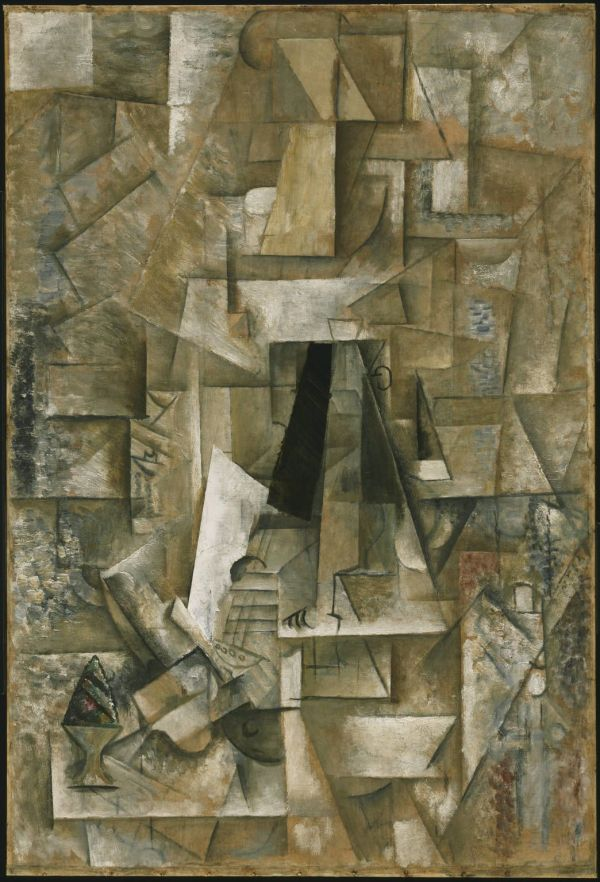 Picasso 'man With Guitar' 1912 . Cubism Avant Garde