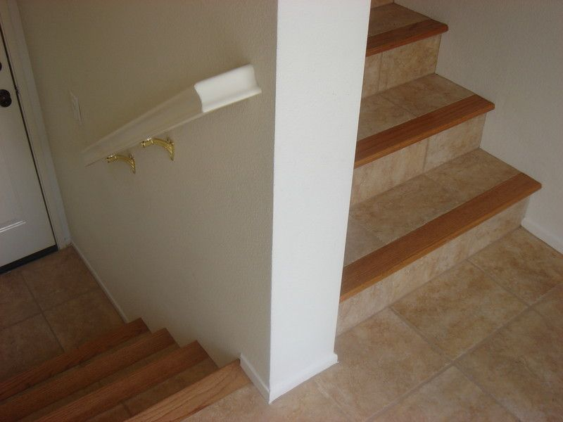 Travertine Tile On Stairs
