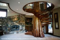 Spiral Stairs / Staircase with Tree in the Center in ...