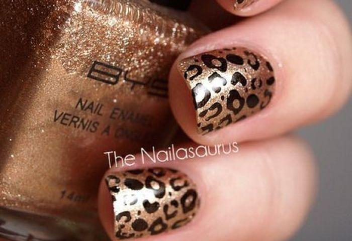 Golden Leopard Nails Nails Pinterest Uña Decoradas Diseños De