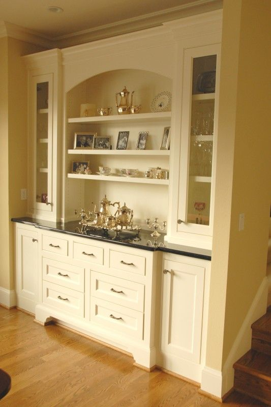 Built in Buffet Cabinet  Painted builtin buffet cabinet