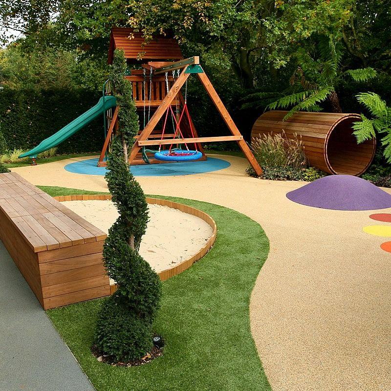 Varied And Attractive Childrens' Play Area Garden Design Garden