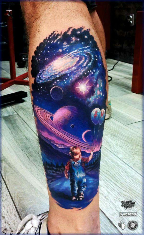 space tattoo wzory
