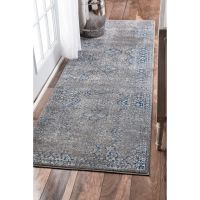 nuLOOM Traditional Distressed Grey Runner Rug (2'8 x 8 ...