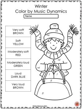 Winter Music Coloring Sheets: 26 Winter Music Coloring