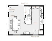 kitchen floor plans   Brilliant Kitchen Floor Plans with ...