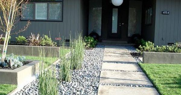 garden pavement modern backyard
