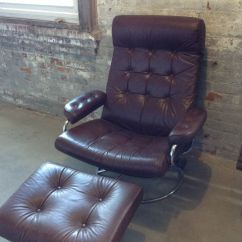 Modern Leather Recliner Swivel Chair Banquet Covers Amazon Reserved Chris Mid Century Ekornes Brown