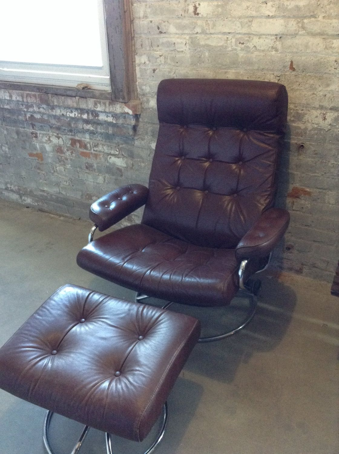 Mid Century Recliner Chair Reserved Chris Mid Century Ekornes Brown Leather