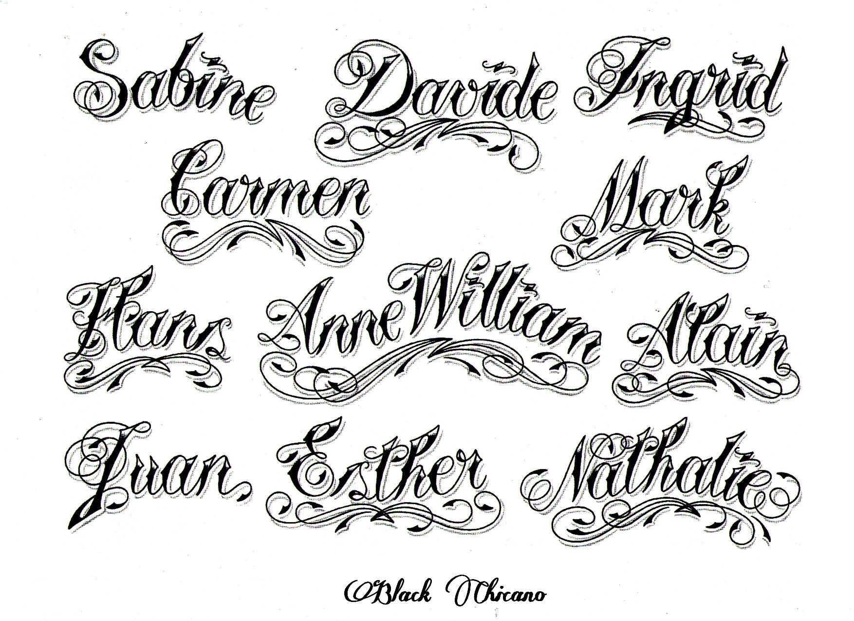 26 Lovely E Tattoo Fonts