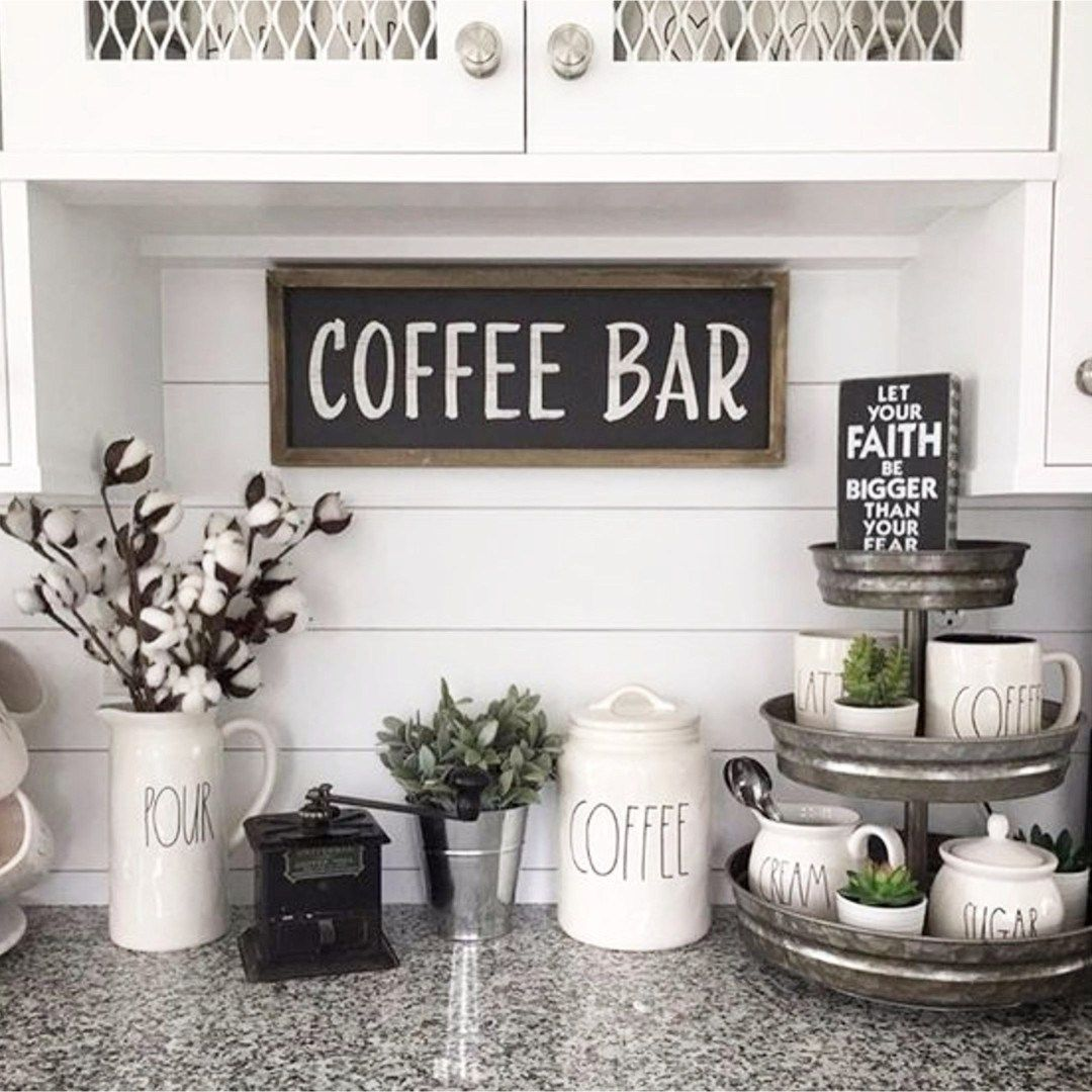 coffee decoration for kitchen buffets diy bar ideas stunning farmhouse style beverage