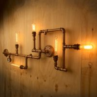 Plumbing Pipe 5 bulb wall feature consists of lengths of ...