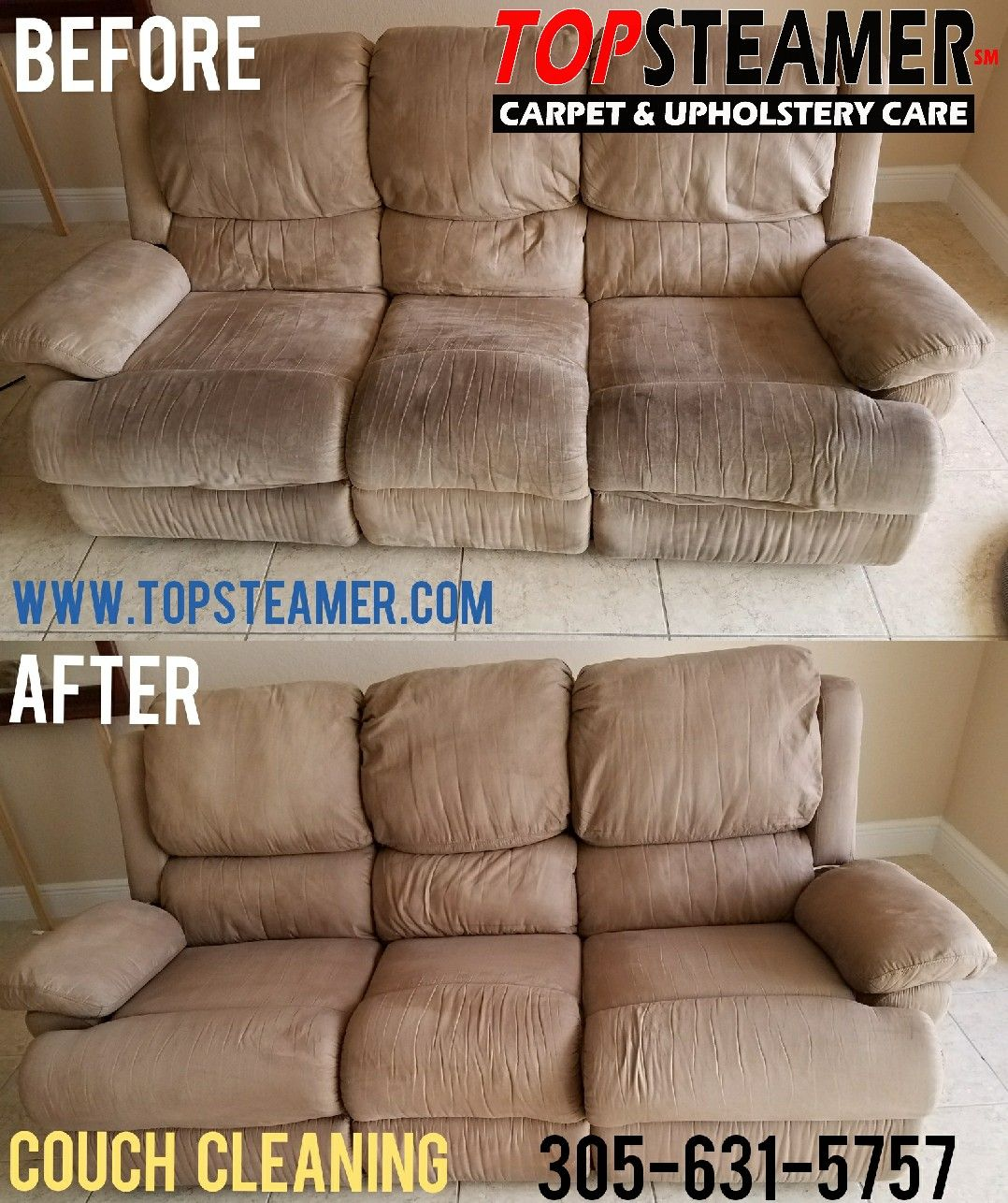 sofa cleaning miami beach seat height standard upholstery free stain