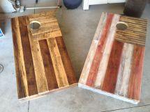 Reclaimed Cornhole Boards Pallets Colten