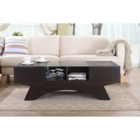 Wooden Design | Dark wooden coffee table design with a ...