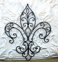 Fleur De Lis Metal Wall Art/ Wrought Iron by ...