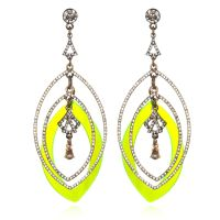 sequin - NEON YELLOW LUCITE EARRINGS | Jewelry | Pinterest ...