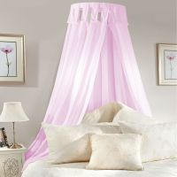 Princess BED CANOPY Coronet Corona PINK LILAC Voile Girls ...