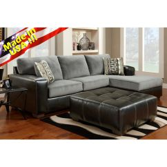 Sofa And Chaise Lounge Set Donate Sydney Cumulus Black Gray Two Toned Sectional
