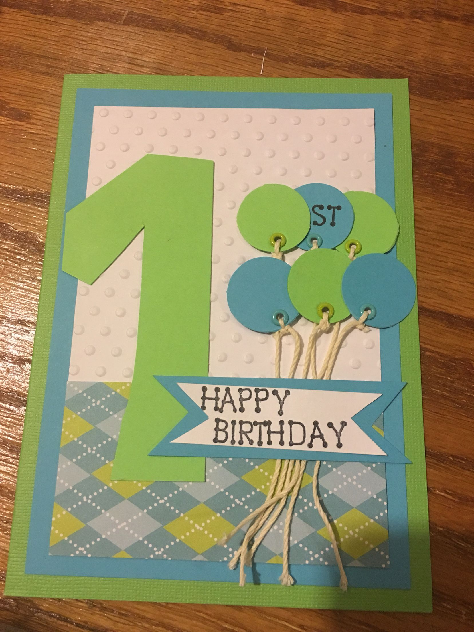 One Year Old Little Boy Birthday Card ️Cards And