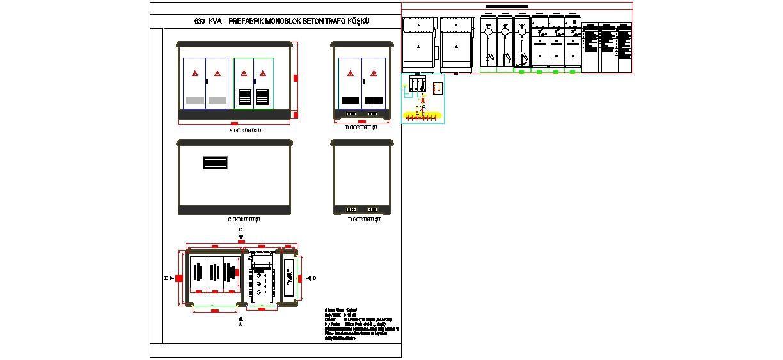 Dwg Adı : 630 kva prefabrik monoblok beton trafo köşkü